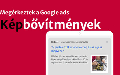 Google Ads képbővítmények a gyakorlatban.